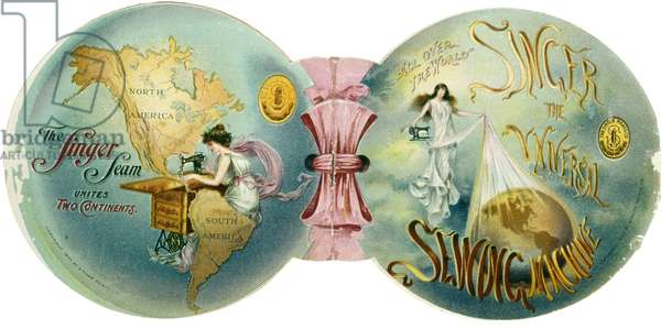 Singer Sewing Machine Advertisement, 1901 (colour litho)