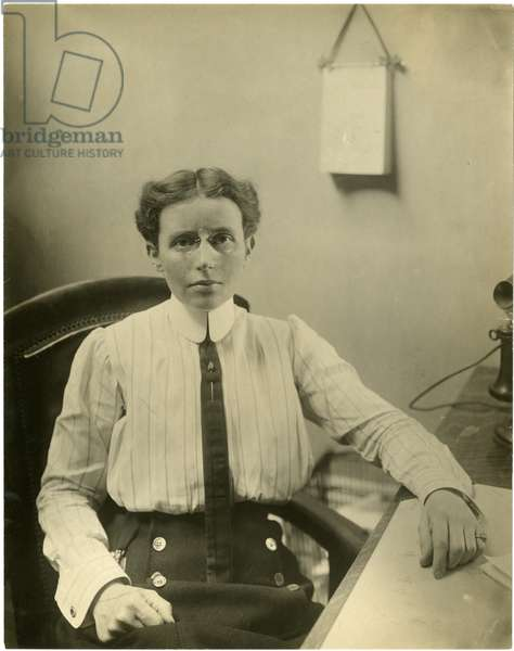 Dr Josephine Baker, head of the Child Hygiene Dept of the Dept of Health of Cy of NY supervises the health of more children than any other woman in the world, c.1917-19 (gelatin silver photo)