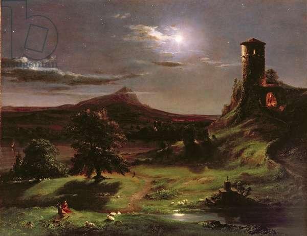 Landscape (Moonlight), c.1833-34 (oil on canvas)