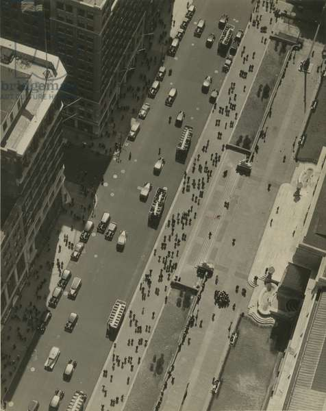 Birdseye view of New York Public Library and Fifth Avenue at 42nd Street, New York, USA, c.1920-38 (gelatin silver photo)
