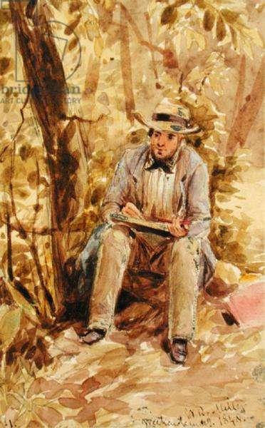 Self Portrait, 1848 (w/c, graphite and white lead on paper)