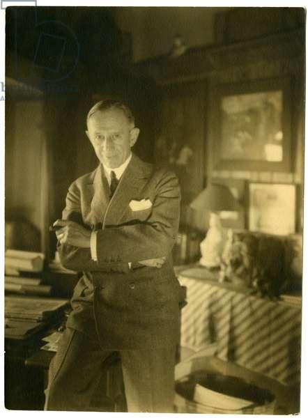 John McCutcheon, cartoonist of Chicago, c.1905-40 (gelatin silver photo)