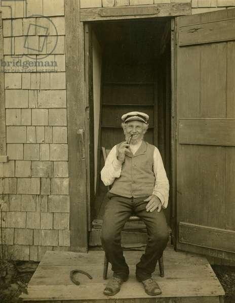 Capt Billy Bowen, Nantucket sea capt, c.1905-09 (gelatin silver photo)