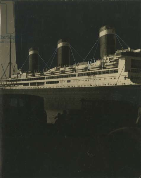 hand-altered image of a steamship, USA, c.1920-38 (gelatin silver photo)