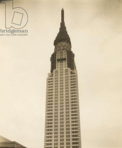 Chrysler Building under construction, New York, USA, c.1920-38 (gelatin silver photo)