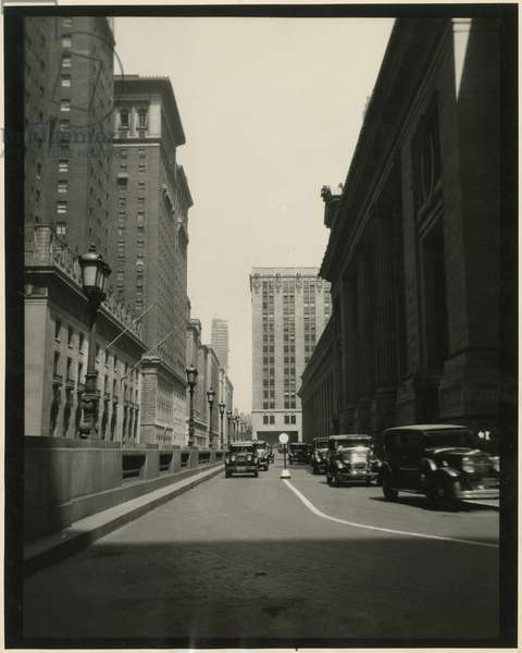Viaduct around Grand Central Terminal, USA, c.1920-38 (gelatin silver photo)