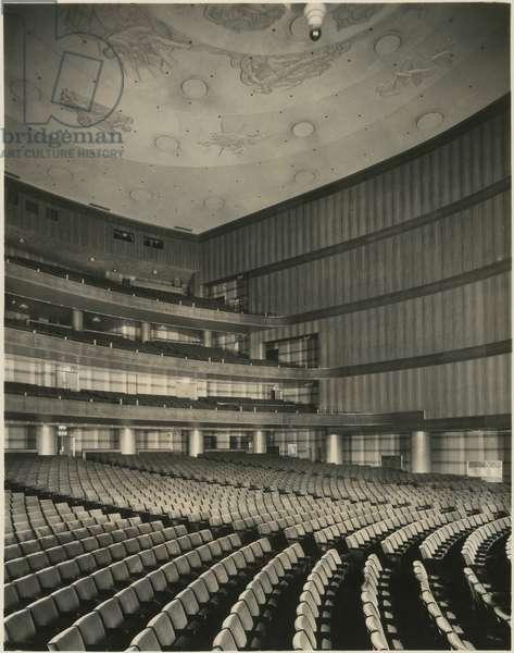 RKO Roxy Theatre (1932), 1230 Sixth Avenue at 49th Street: Orchestra, New York, USA, c.1932-38 (gelatin silver photo)