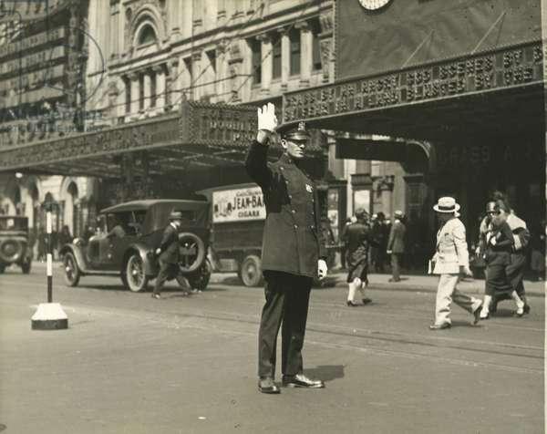 Traffic Cop on Broadway, USA, c.1920-38 (gelatin silver photo)