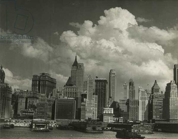Skyline view of Manhattan, New York, USA, c.1920-38 (gelatin silver photo)