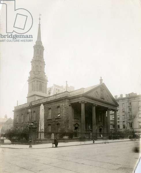St Paul's Chapel, Broadway, New York, USA, c.1905-40 (gelatin silver photo)