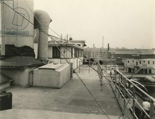 Deck of a steamship, New York, USA, c.1920-38 (gelatin silver photo)