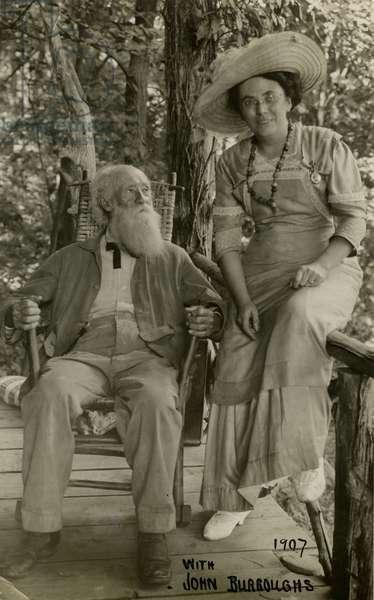 With John Burroughs 1907, 1907 (gelatin silver photo)