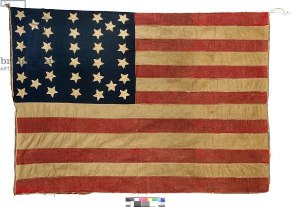 Flag: 34 stars American, 1861-63 (wool & cotton) (see 398898 for verso)