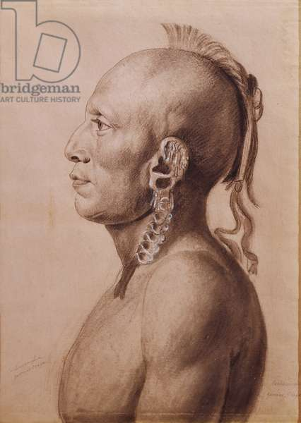 Cachasunghia, an Osage Warrior, 1806 (pencil and charcoal on paper)