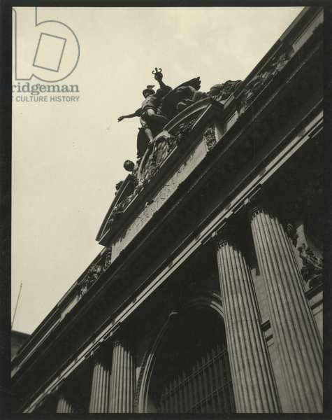 Grand Central Terminal, façade detail, USA, c.1920-38 (gelatin silver photo)