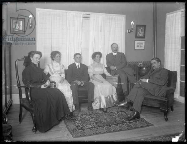 Quinn family group portrait, c.1911-12 (b/w photo)