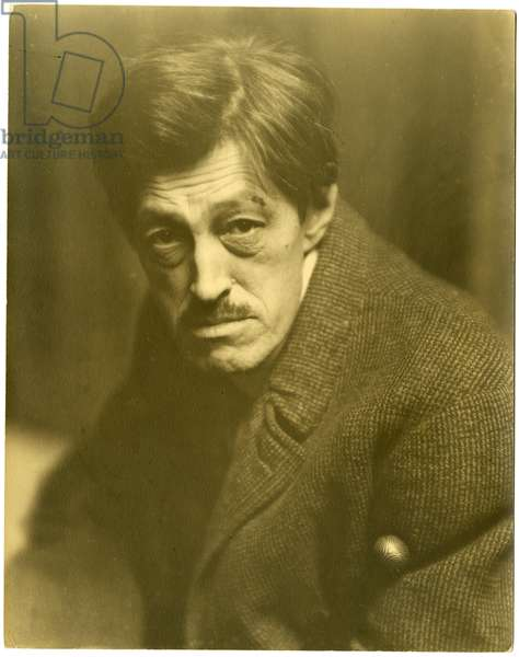 Sadakichi Hartman - German Japanese artist & art critic, 1919 (gelatin silver photo)