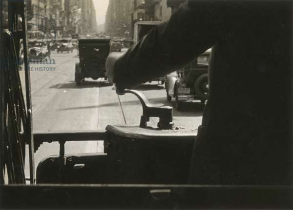 A Motorman's View Down Broadway, 1926, New York, USA, 1926 (gelatin silver photo)