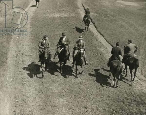 Horseback Riding, weekday morning, Central Park, New York City, USA, c.1920-38 (gelatin silver photo)