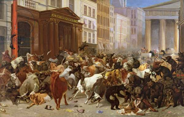 The Bulls and Bears in the Market, 1879 (oil on canvas)