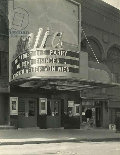 Thalia Theatre, 95th Street and Broadway, New York, USA, c.1920-38 (gelatin silver photo)