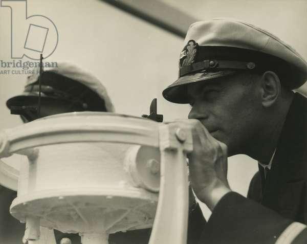 German steamship, first mate, 1929, New York, USA, 1929 (gelatin silver photo)