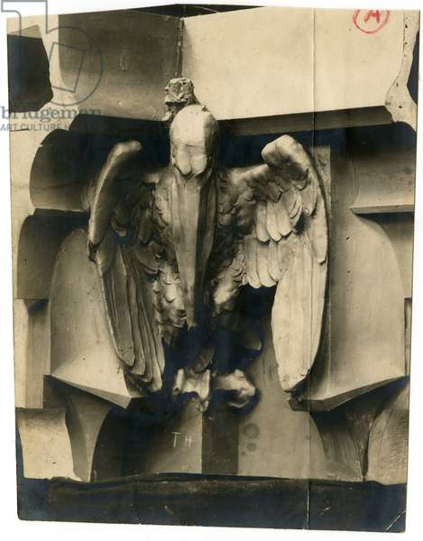 Woolworth Building terra cotta detail - Pelican in clay, 1911 (photo)