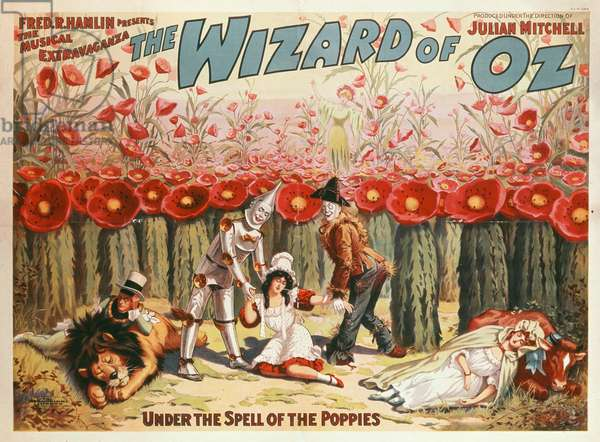 'Under the Spell of the Poppies', poster advertising 'The Wizard of Oz', 1904 (colour litho)