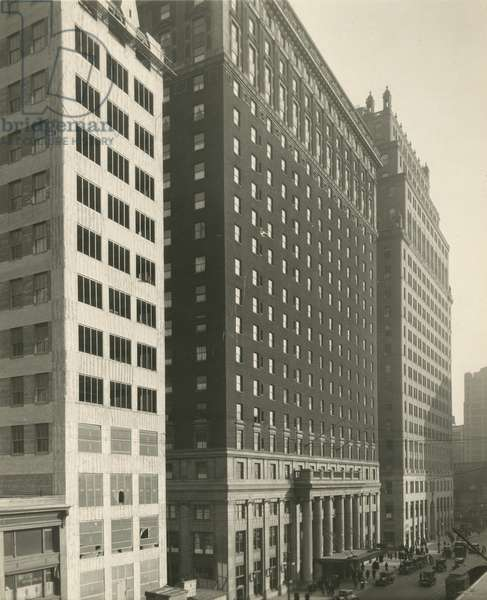 Pennsylvania Hotel, New York City, April 1926. Hotel opposite Penn. Station, 7th Avenue and 32nd Street, New York, USA, 1926 (gelatin silver photo)