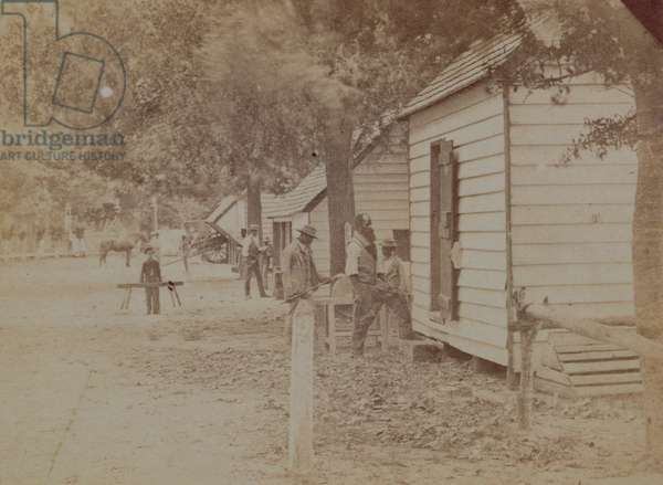 Negro Quarters, Perseverance Plantation, Goose Creek, South Carolina, c.1860s (sepia photo) (see also 192070)