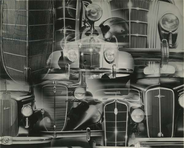Photomontage of automobiles, USA, c.1920-38 (gelatin silver photo)