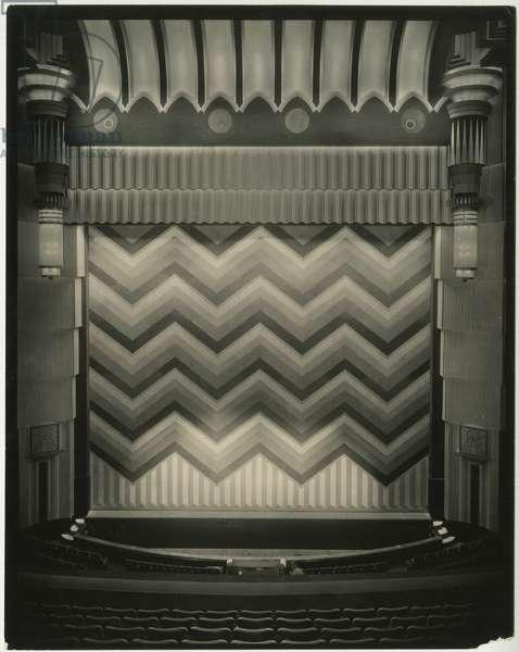 Earl Carroll Theatre, 753 Seventh Avenue, interior - stage curtain, New York, USA, c.1920-38 (gelatin silver photo)