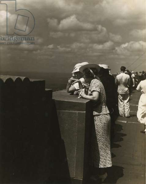 Empire State Building observation deck, New York, USA, c.1931-38 (gelatin silver photo)
