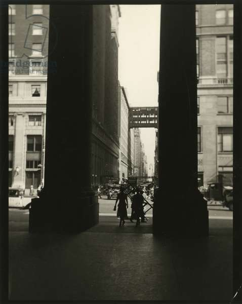 Penn Station entrance, Seventh Avenue between 31st and 33rd Street, USA, c.1920-38 (gelatin silver photo)