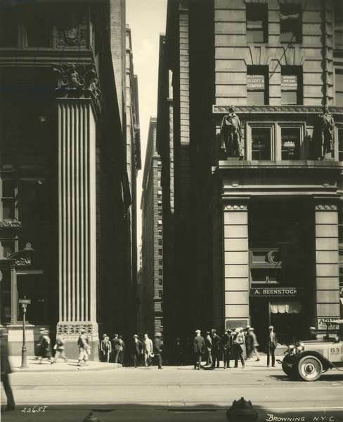 Exchange Place from Broadway, New York, USA, c.1920-38 (gelatin silver photo)
