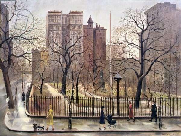 Gramercy Park, 1940 (oil on canvas)