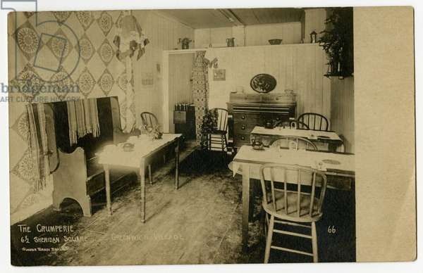 The Crumperie, 6 1/2 Sheridan Square, Greenwich Village, New York, USA, c.1917-19 (gelatin silver photo)