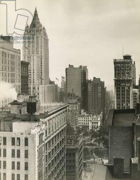 Rooftops near Madison Square Park, New York, USA, c.1920-38 (gelatin silver photo)