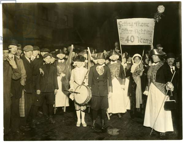 Suffrage Parade, Greenwich Village, New York, USA, c.1915-18 (gelatin silver photo)