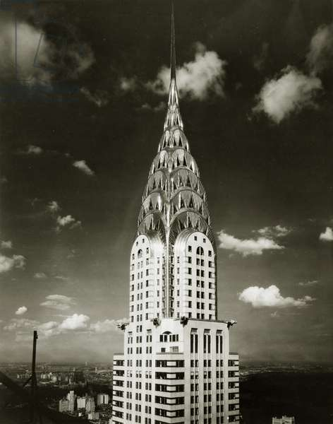 Chrysler Building at 405 Lexington Avenue, upper stories and spire, New York, USA, 1931 (gelatin silver photo)