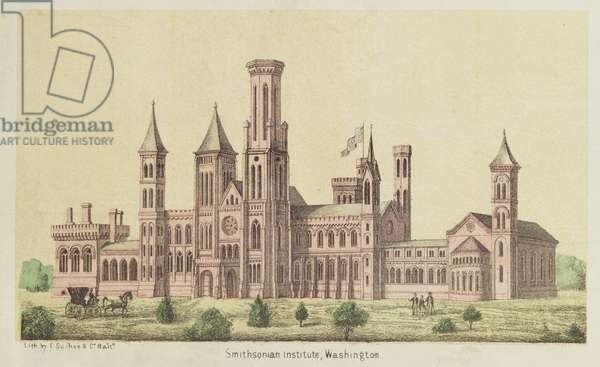 The Smithsonian Institute, Washington, published by E. Sachse (colour litho)