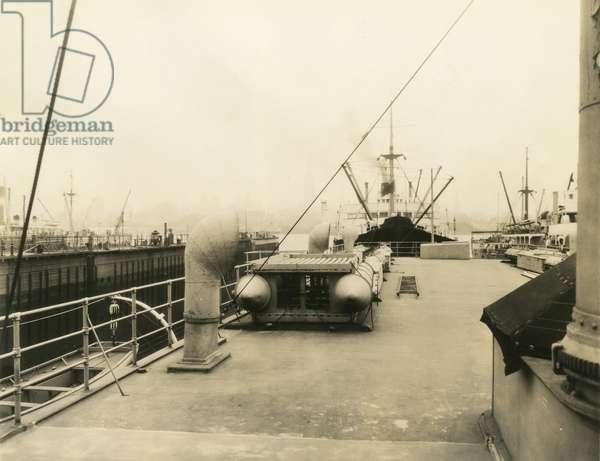 Ship deck, USA, c.1920-38 (gelatin silver photo)
