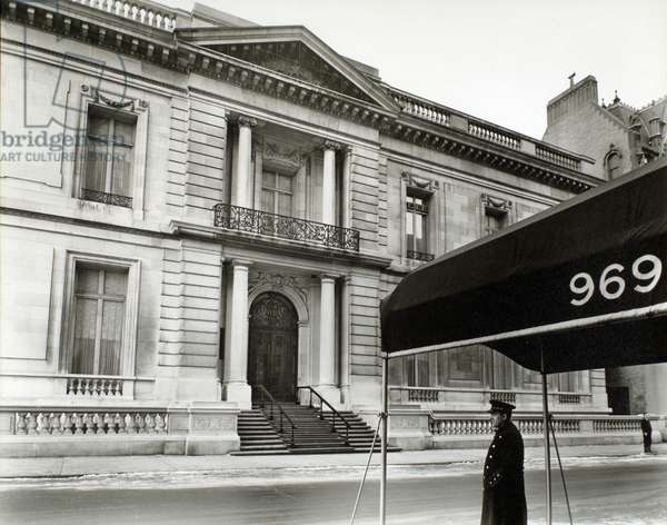 James B. Duke town house, Manhattan. 20th January, 1938 (gelatin silver print)