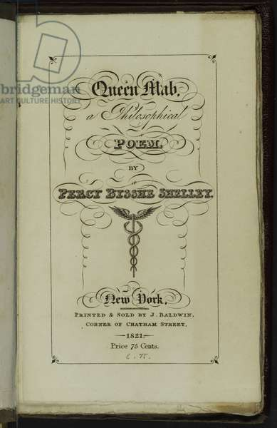 Title Page for 'Queen Mab', 1821 (litho)