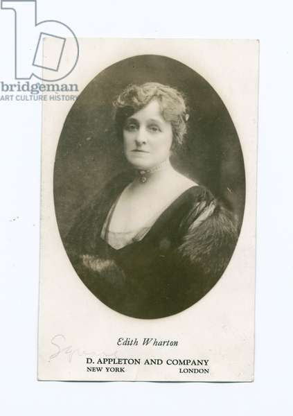 Edith Wharton, illustration from 'The Pageant of America' (litho)