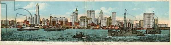 New York Skyline, 1911 (colour litho)