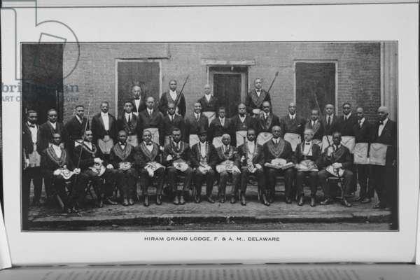 Hiram Grand Lodge, F. & A. M., Delaware, 1923 (b/w photo)