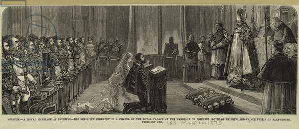 A Royal Marriage at Brussels, 1875 (wood engraving)