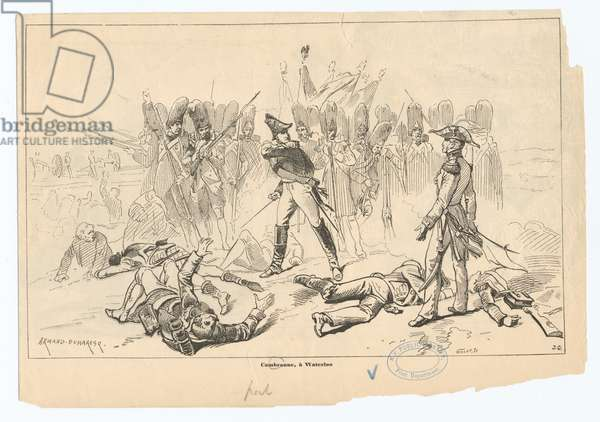 Cambronne at Waterloo (litho)