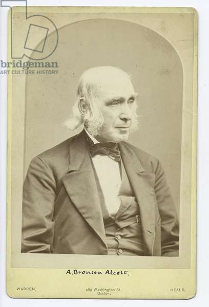 A. Bronson Alcott (b/w photo)
